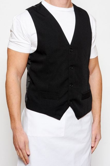 Black Waiters Vest