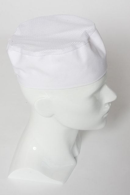 Chef Box Hat with a Netting Top